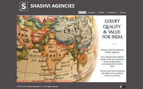 Screenshot of Home Page shashvi.in - shashvi-agencies - captured Nov. 15, 2017