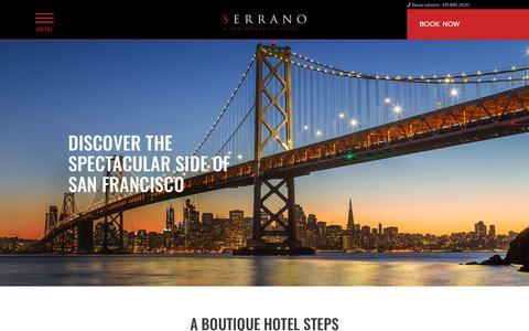 Serrano Hotel | Homepage |  Hotels in Union Square San Francisco