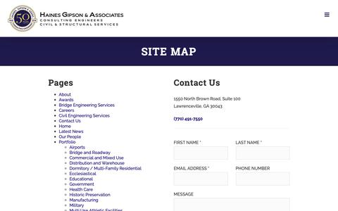 Screenshot of Site Map Page hainesgipson.com - Site Map - Haines Gipson & Associates - captured Nov. 9, 2018