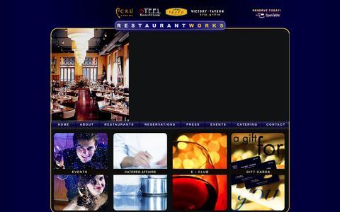 Screenshot of Home Page restaurantworks.com - Restaurant Works • Dallas, Texas • Corporate Homepage - captured Oct. 8, 2014