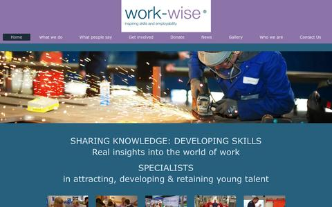 Screenshot of Home Page work-wise.co.uk - The work-wise Foundation: Home - captured Nov. 30, 2016