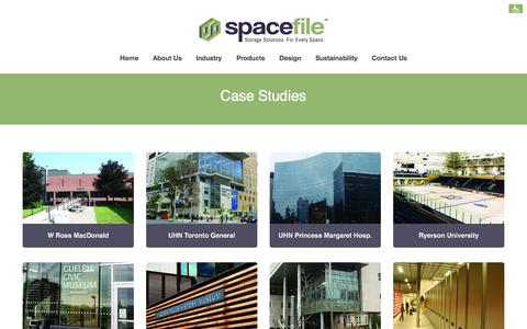 Screenshot of Case Studies Page spacefile.com - Case Studies | Spacefile - captured Oct. 7, 2014