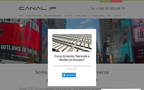 Screenshot of Home Page canalip.com - Cómo Vender en Amazon. Canal IP Agencia de Ecommerce - captured Nov. 4, 2018