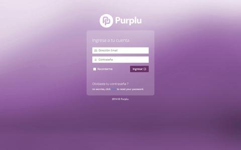 Screenshot of Login Page purplu.com - Login - Purplu - captured Feb. 21, 2016