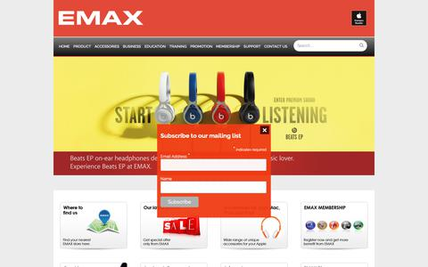 Screenshot of Home Page emax.co.id - EMAX | Apple Premium Reseller - captured Nov. 9, 2018
