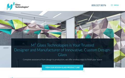 Screenshot of Home Page m3glass.com - Home - M3 Glass Techologies - captured Feb. 4, 2018