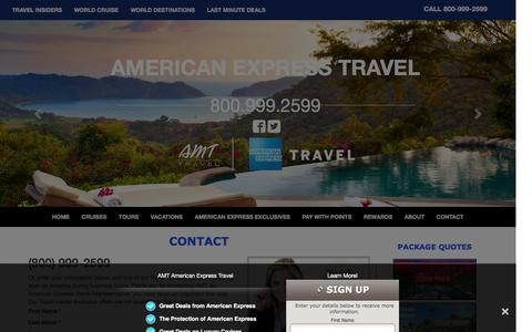 Screenshot of Contact Page amttravel.com - Contact AMT, an American Express Travel Representatives - captured Feb. 4, 2016