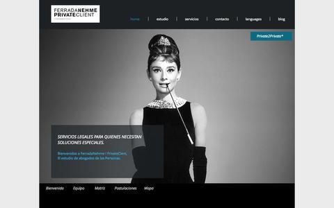 Screenshot of Home Page fn2.cl - Ferrada Nehme - captured Oct. 5, 2014