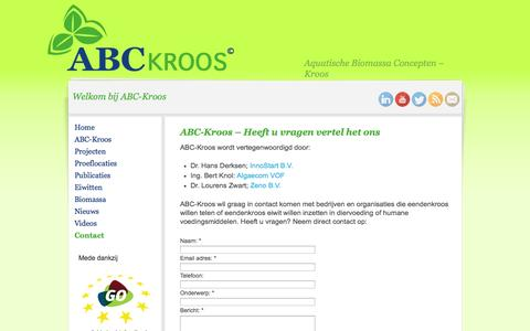Screenshot of Contact Page abc-kroos.com - ABC-Kroos Contact - ABC-Kroos - captured Oct. 4, 2014