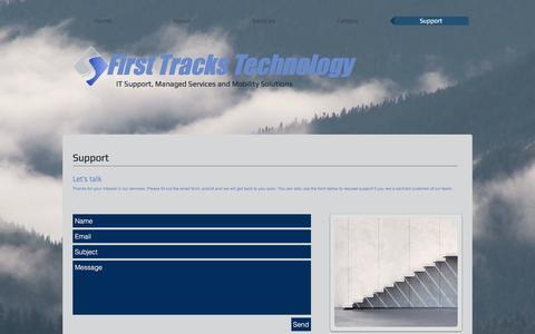 Screenshot of Support Page fttechnology.com - fttechnology   Support - captured Nov. 25, 2016