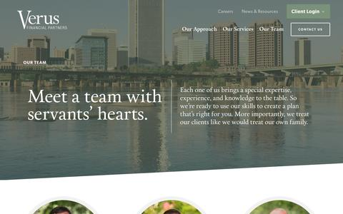 Screenshot of Team Page verusfp.com - Team Members Archive - Verus Financial Partners - captured Dec. 19, 2016
