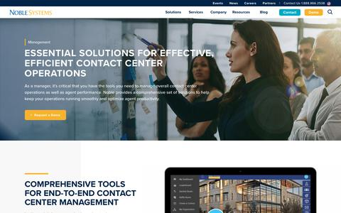 Screenshot of Team Page noblesystems.com - Improved and Streamline Contact Center Management   Noble Systems - captured Feb. 6, 2020