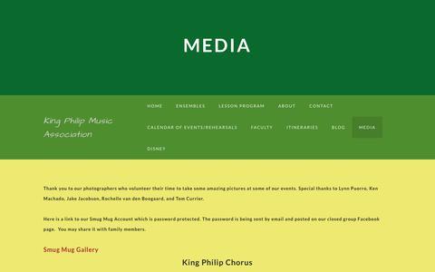 Screenshot of Press Page weebly.com - Media - King Philip Music Association - captured June 10, 2018