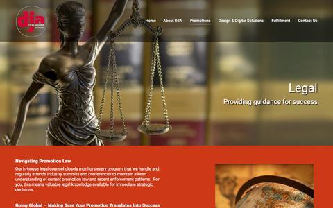 Screenshot of Terms Page dja.com - Legal - DJA.com - captured Aug. 28, 2016