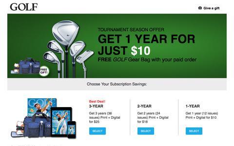 Screenshot of Landing Page golf.com - Golf - captured July 12, 2017