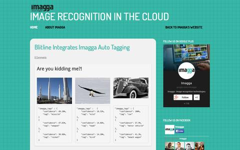 Screenshot of Blog imagga.com - Imagga Blog | image recognition in the cloud - captured Sept. 16, 2014