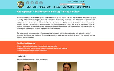 Screenshot of About Page petkey.org - About | petkey ™ - captured Sept. 23, 2014