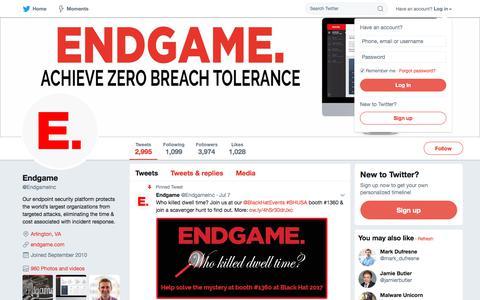 Endgame (@EndgameInc) | Twitter