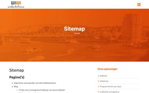 Screenshot of Site Map Page wiwi.nl - Sitemap - Wiwi Websolutions - captured Oct. 18, 2018