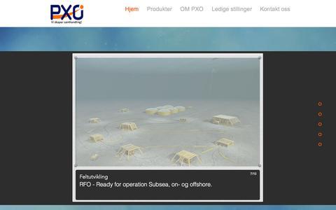 Screenshot of Home Page pxo.no - Velkommen til PXO - captured Sept. 26, 2018