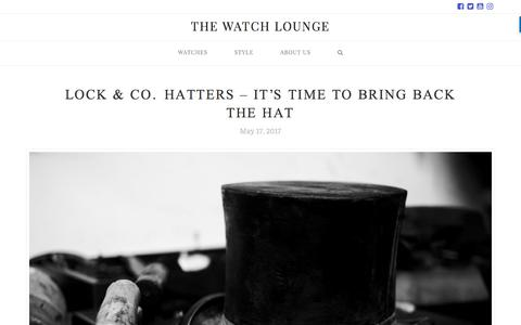 Screenshot of Home Page thewatchlounge.com - The Watch Lounge - The Luxury Watch Lover's Magazine - captured June 17, 2017