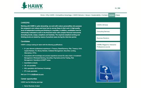 Screenshot of Jobs Page hawk-ics.com - Careers | HAWK ICS - captured Jan. 27, 2016