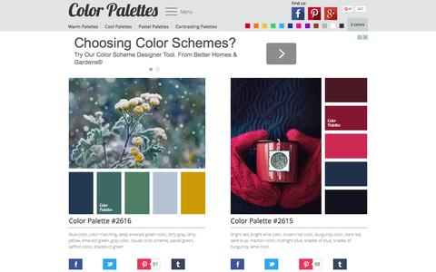 Screenshot of Home Page colorpalettes.net - Color Palette Ideas | ColorPalettes.net - captured Feb. 6, 2016