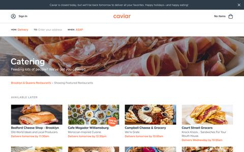 Catering | Caviar
