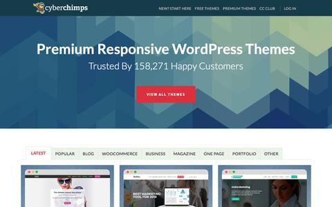 Screenshot of Home Page cyberchimps.com - Premium WordPress Themes | WordPress Templates By CyberChimps - captured July 15, 2019