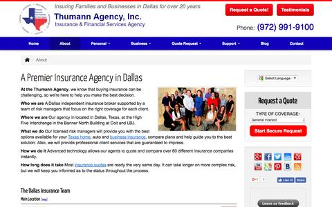 Welcome to the Thumann Insurance Agency  in Dallas, Texas.