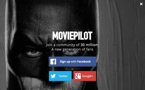 Screenshot of Login Page moviepilot.com - A New Generation of Fans | moviepilot.com - captured Jan. 28, 2016