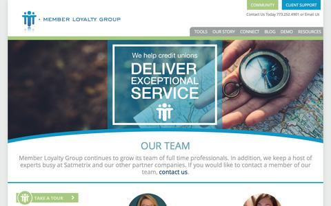 Screenshot of Team Page memberloyaltygroup.com - Our Team - Member Loyalty Group Member Loyalty Group - captured May 10, 2017