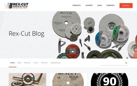Screenshot of Blog rexcut.com - Rex-Cut Abrasives Blog - captured Aug. 14, 2018