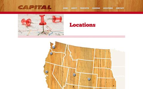 Screenshot of Locations Page capital-lumber.com - Locations | Capital Lumber - captured Sept. 27, 2014