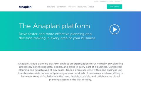 Anaplan | Planning and performance management platform for CPM