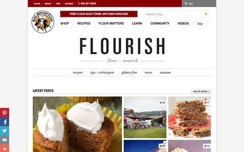 Screenshot of Blog kingarthurflour.com - Flourish - King Arthur Flour's blog | Step-by-step recipes and baking tips from America's oldest flour company: King Arthur Flour - captured Sept. 18, 2014