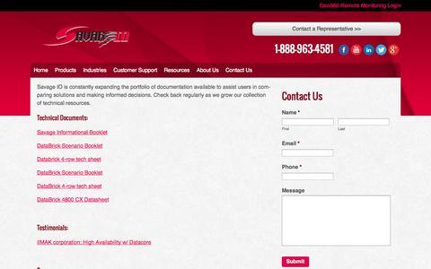 Screenshot of Testimonials Page savageio.com - Resources - Savage IO - captured Sept. 17, 2014