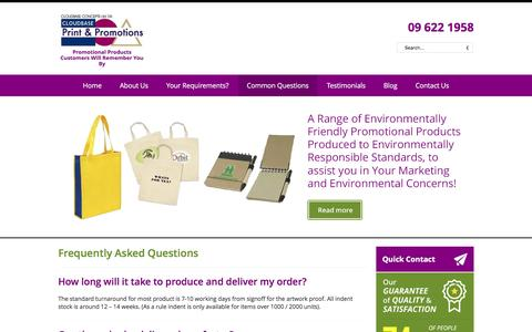 Screenshot of FAQ Page costeffectivecorporategifts.co.nz - CORPORATE GIFTS & PROMOTIONAL PRODUCTS - Auckland - captured Jan. 29, 2016