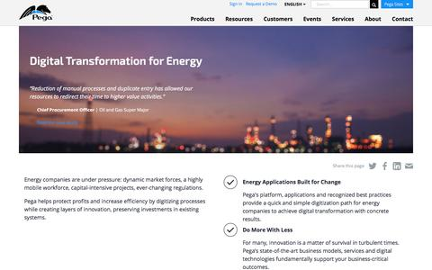 Energy & Utilities Management Software | Pega