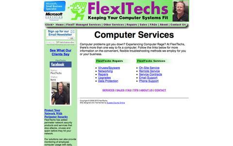 Screenshot of Services Page flexitechs.com - Delaware Computer Services -- FlexITechs - captured Oct. 27, 2014