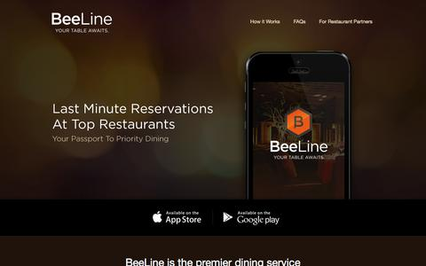 Screenshot of Support Page beelinenow.com - BeeLine is the premier dining service - captured Oct. 4, 2014