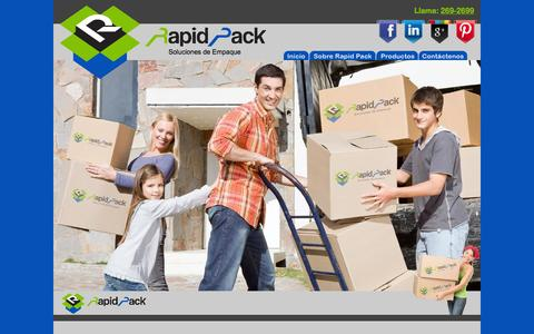 Screenshot of Home Page rapidpack.net - Rapid Pack - captured Oct. 9, 2014