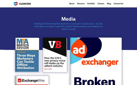 Screenshot of Press Page clearcode.cc - Clearcode in Media - Enterprise-grade Software Development - captured Sept. 28, 2017