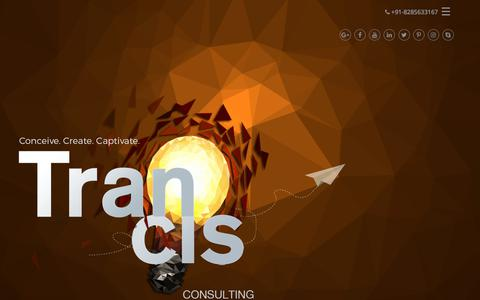 Screenshot of Home Page trancis.com - Strategic Planning and Consulting | Website designing company in delhi | Political Consulting | Technical Consulting  | Legal and financial consulting Trancis - captured Sept. 21, 2018