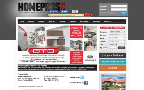 Screenshot of Contact Page homeprosguide.com - Home Pro's Guide is Your Guide to Home Improvement Companies - captured May 21, 2017