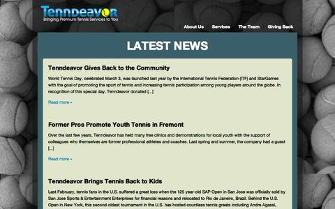 Screenshot of Press Page tenndeavor.com - Latest News | Tenndeavor - captured Oct. 7, 2014