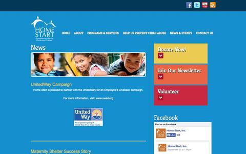 Screenshot of Press Page home-start.org - News | Home Start - captured Oct. 2, 2014
