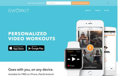 Sworkit - Personalized Video Workouts