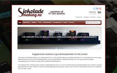 Screenshot of Home Page sjokoladesmaking.no - Sjokoladesmaking.no » spesialisten på fin mørk sjokolade - captured Oct. 4, 2014