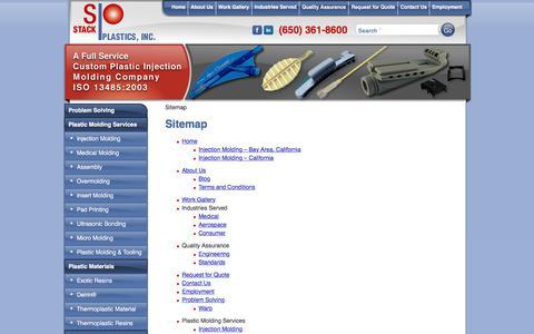 Screenshot of Site Map Page stackplastics.com - Sitemap - captured Oct. 24, 2017